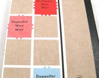 German Scrabble board notepad - small