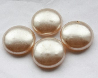 8 Vintage 1940's / 1950s Pearly Cabochons