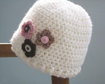Button Blossoms Hat