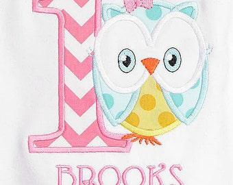 Owl Birthday Shirt, Owl First Birthday Shirt, Personalized Owl Birthday Shirt, Owl Birthday Bodysuit, Owl Birthday Party, First, Second