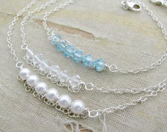 CHOOSE 3 Birthstone Bracelet---Sarah Collection Bracelet-Mother's Day Bracelet-Sterling Silver