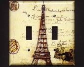 Eiffel II Tower Double Switchplate cover