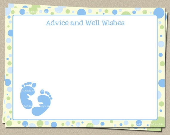 advice and well wishes cards baby shower words of wisdom cards pink
