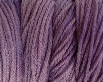 Purple Dawn Worsted Weight Hand Dyed Merino Wool Yarn