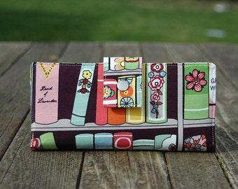 Wallet clutch womens handmade clutch books