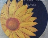 Reversible Candle Mat - sunflower and pumpkin