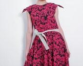 Floral Shoulder Tie Dress
