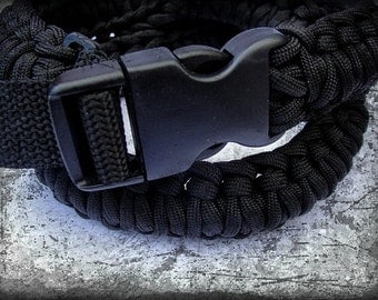 XXL or larger 550 Paracord Survival Belt with Side-Release Buckle..from belt to rope in seconds