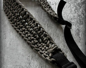 550 Paracord  Rifle Sling or Camera Strap..from strap to rope in seconds