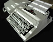 Royal Typewriter with custom hand-made paper exterior.
