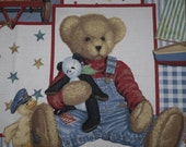 Quilt Top Springs Daisy Kingdom Blue Jean Teddy 4482