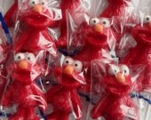 Chocolate Lollipops -- ELMO -- Kids Sesame Street Birthday Party favors, Baby Shower favors, Childrens Gift, Easter goodies