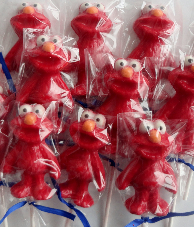 chocolate lollipops elmo kids sesame street birthday