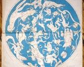 1871 celestial constellation map rare original antique astronomy star print