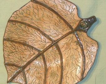 Fall Leaf Serving Platter