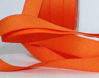 "Orange Ribbon, 5/8"" wide by the yard, Pantone Celosia Orange, Tangerine, Orange Trim, Halloween, Sewing, Gift Wrapping, Party Supplies"