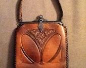 Gorgeous Arts & Crafts Era Leather Purse