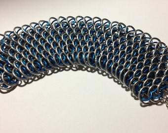 Blue and Silver Dragonscale Bracelet