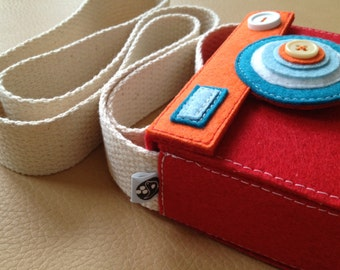 NEW--Eco Boxy Camera Case with Strap (Featured on the cover of Better Homes and Gardens Magazine)