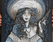 Las Bandidas - Silk Screen Art Print