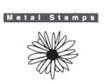 "DAISY FLOWER Metal STAMP Design 6mm 1/4"" Impress Art Jewellery Steel Punch Metal Marking Craft Jewelry Making Tool Florals"