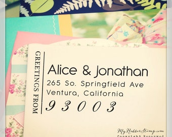 Address Stamp Pre-inked Stamp (It's got style) DIY Wedding Stamp, RSVP, Business Stamp, Social Links, Gift for Couple, Teacher Stamp (P2298)