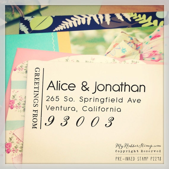 Address Stamp Pre-inked Stamp (It's got style) DIY Wedding Stamp, RSVP, Business Stamp, Social Links, Gift for Couple, Teacher Stamp (P2298)