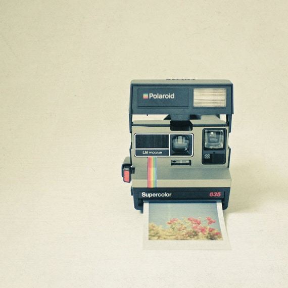 Gift Ideas for Him, Retro Wall Art, Still Life Photograph, Polaroid Camera Art - Instant Dreams