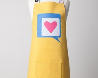 Tween Appliqué 'Heart in a Word Bubble'  Apron