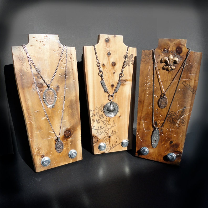 Exhibition Stand Jewelry : Necklace display jewelry set f stand wood