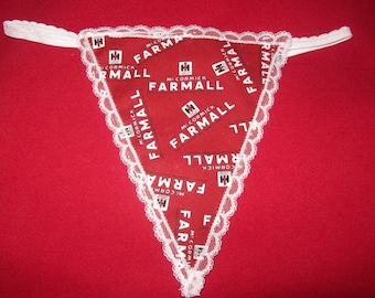 Womens McCORMICK FARMALL G-String Thong Lingerie Panty Underwear