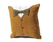 Men's Suit and Bow Tie Pillow