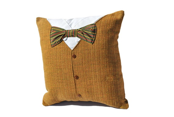 Men's Suit and Bow Tie Pillow