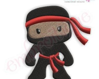 Ninja for Boys - Instant Email Delivery Download Machine embroidery design