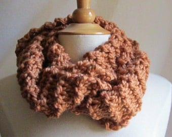 Cozy and Plush Copper Cowl Scarf Neck Warmer
