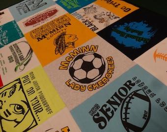 HIGH SCHOOL MEMORIES Custom T-Shirt Blanket