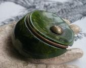 Spinach Bakelite Dress Clip