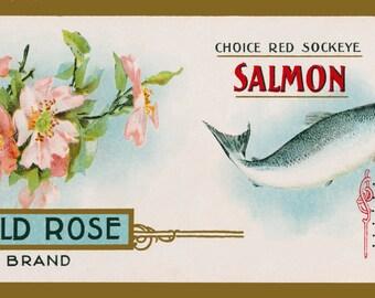 Wild Rose Vintage Label Series III