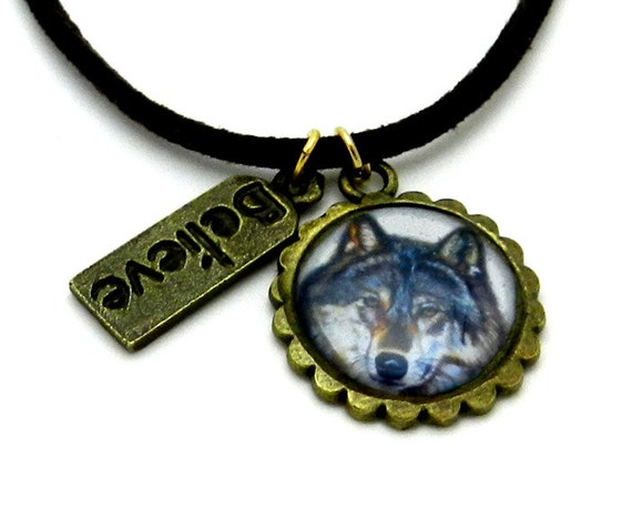 wolf animal totem necklace by michaeline mcdonald