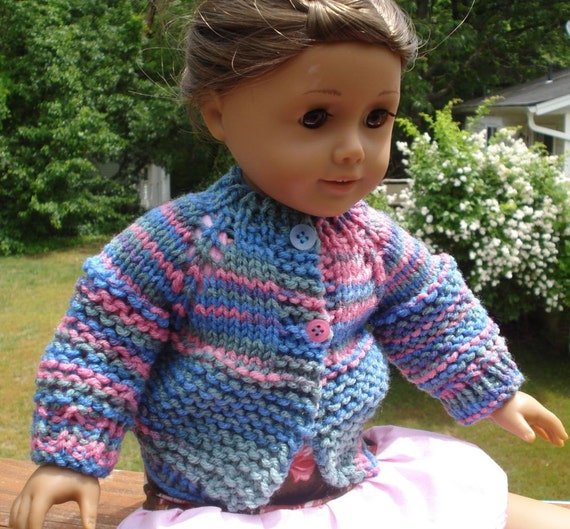 Doll Sweater Knitting Pattern : American Girl Doll PDF Knit Sweater Pattern Two by LoveNYarn