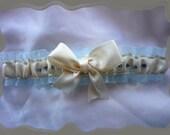 Cream Satin Ribbon with Rhinestones Toss ~~~~SALE~~~~