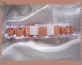 Peach Satin Folded Ribbon Toss ~~~SALE~~~~