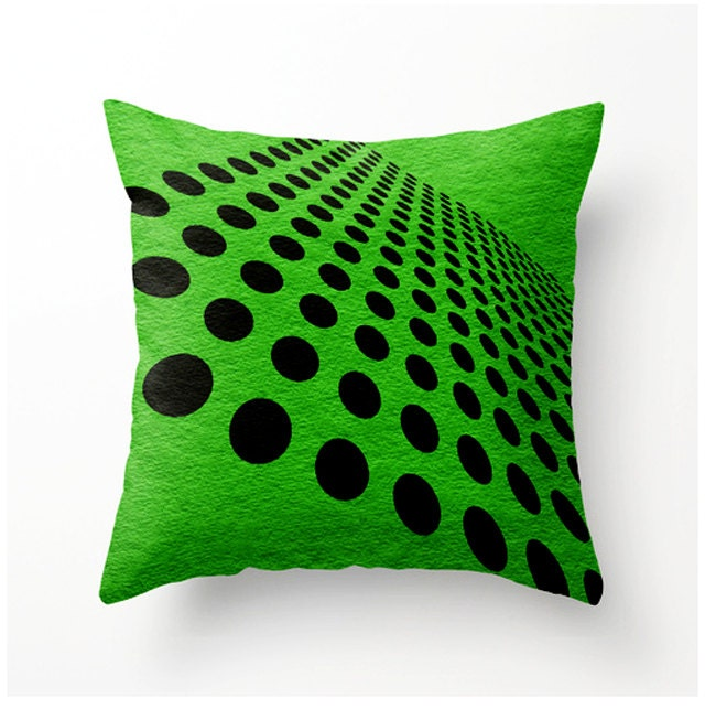Green and Black Geometric decorative throw pillow home decor
