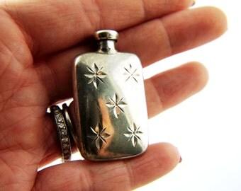 Star Perfume Bottle - Sterling Silver - Vintage
