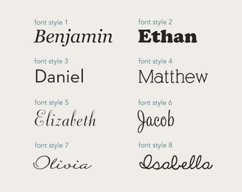 Personalized Name Lettering Decal