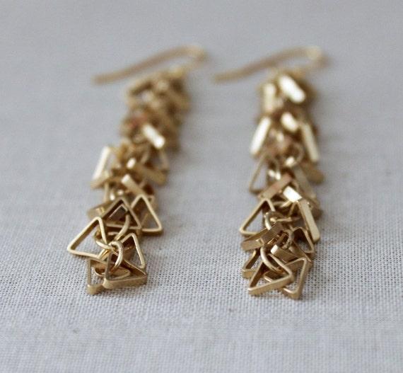 triangle earrings geometric earrings gold geometric. Black Bedroom Furniture Sets. Home Design Ideas