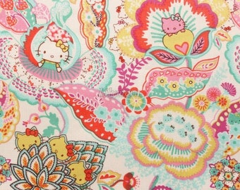 Liberty tana lawn printed in Japan - Tree of Life Garden - Pink mix