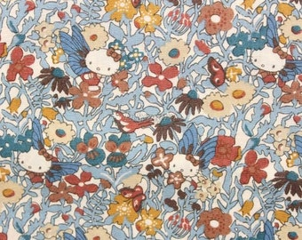 Liberty tana lawn - Fairy Tale Garden - Blue gray mix