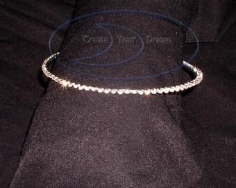 Rhinestone Headband Simple Bridal