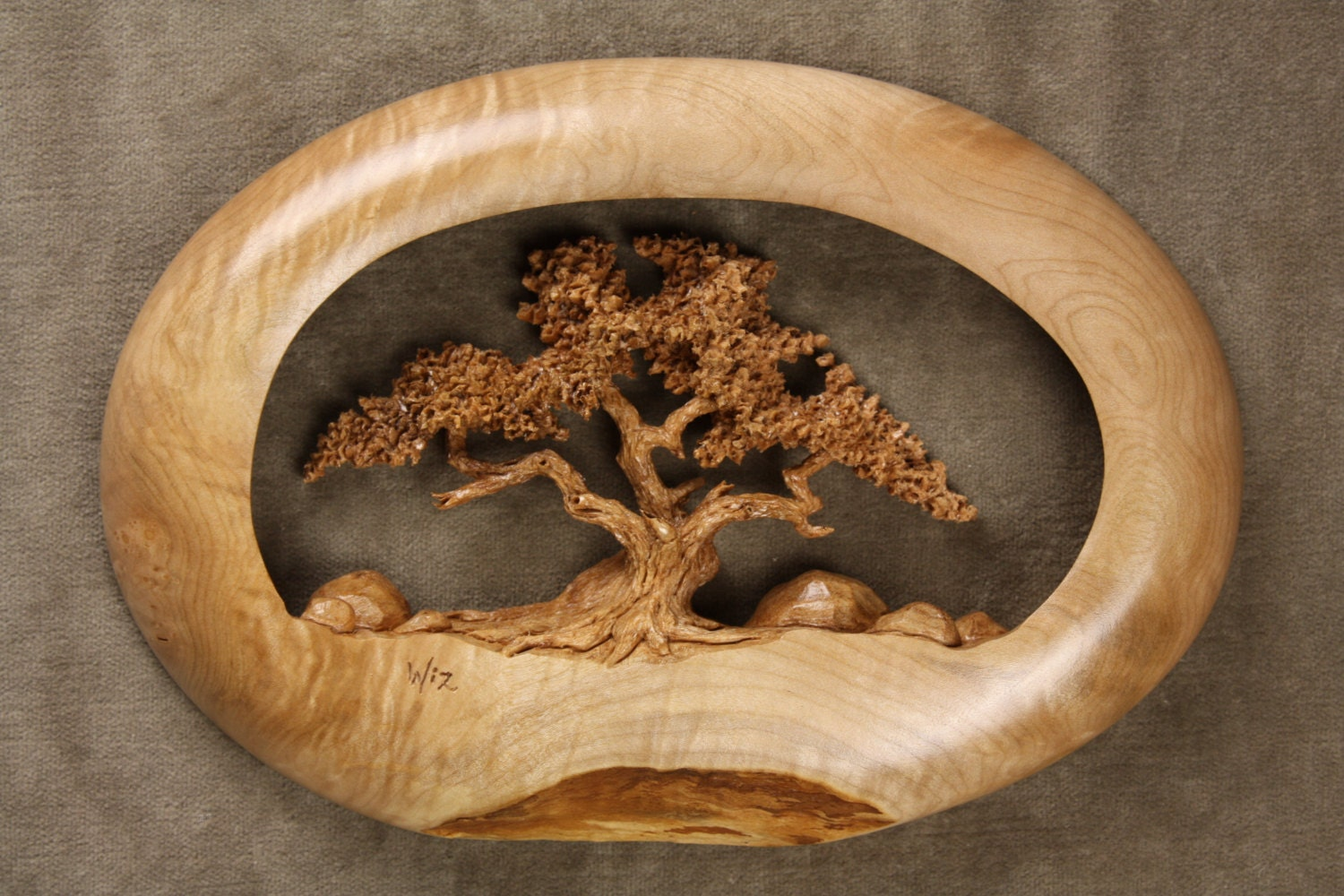 On hold for meagan gift oak tree wood by treewizwoodcarvings
